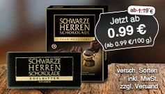 Angebot: Sarotti Schwarze-Herren-Schokolade, 100 g, Streichpreis 1,19 Euro, Angebotspreis 0,99 Euro, zzgl. Versand, zzgl. Pfand, inkl. MwSt. - zum Bestellen hier klicken