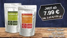 Angebot: Taste Nature Superfoods, Streichpreis ab 7,99 Euro, 100 g ab 3,60 Euro, versch. Sorten, inkl. MwSt., zzgl. Versand