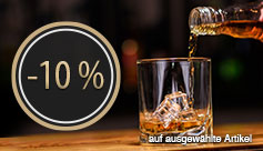 Angebot: 10 Prozent auf ausgewählte Whiskys sparen - zum Bestellen hier klicken