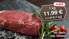 Angebot: Tafelspitz vom Rind, 1 kg, Streichpreis 14,99 Euro, Angebotspreis 11,99 Euro, inkl. MwSt., zzgl. Versand