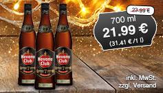 Angebot: Havana Club Añejo 7 Años Rum (700 ml), Streichpreis 23,99 Euro, Angebotspreis 21,99 Euro, zzgl. Versand, zzgl. Pfand, inkl. MwSt. - zum Bestellen hier klicken