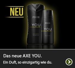 Das neue AXE You. Ein Duft, so einzigartig wie du.