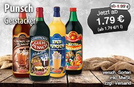 Angebot: Gerstacker Punsch, 1l, Streichpreis ab 1,99 Euro, Angebotspreis ab 1,79 Euro, zzgl. Versand, inkl. MwSt. - zum Bestellen hier klicken