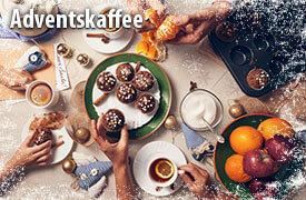Entdecken Sie unseren Adventskaffee und alles, was sie hierfür benötigen - zum Bestellen hier klicken