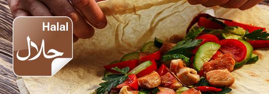 Vegetarische Ernährung und Produkte.