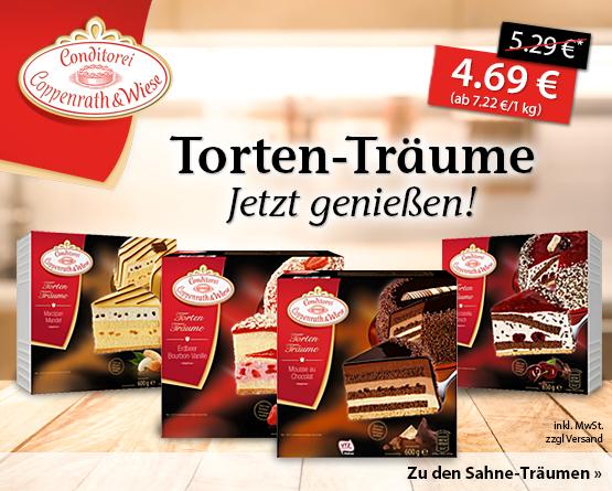 Angebot: Coppenrath und Wiese Torten-Träume, Streichpreis 5,29 Euro, Angebotspreis 4,69 Euro, zzgl. Versand, inkl. MwSt. - zum Bestellen hier klicken.
