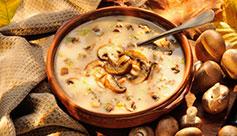 Waldpilzcreme Suppe mit gerösteten Maronen