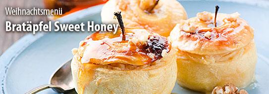 Rezeptempfehlung für Sie: Bratapfel Sweet Honey - zum Bestellen hier klicken.