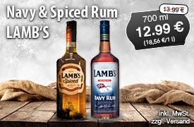Angebot: Navy Rum, 700ml, Streichpreis 13,99 Euro, Angebotspreis 12,99 Euro, zzgl. Versand, zzgl. Pfand, inkl. MwSt. - zum Bestellen hier klicken