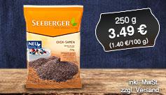 Angebot: Seeberger Chia Samen, 100g, 3,49 Euro, inkl. MwSt., zzgl. Versand - zum Bestellen hier klicken.