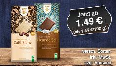 Angebot: Gepa Bio Schokolade, Preis ab 1,49 Euro, inkl. MwSt., zzgl. Versand - zum Bestellen hier klicken.