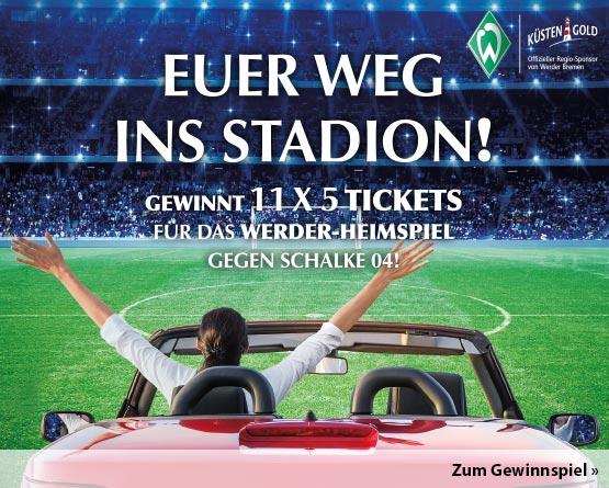 Angebot: Küstengold Konserven 10% reduziert und Gewinnspiel: Gewinnen Sie 11 x 5 Tickets für das Werder-Bremen-Heimspiel gegen Schalke 04! - Hier klicken!