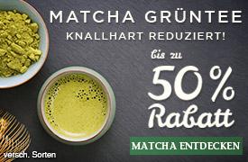 Angebot: Bünting Matcha bis zu 50% reduziert - zum Bestellen hier klicken!