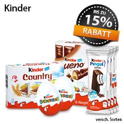 Angebot: Bis zu 15% auf Kinder Schokolade - zum Bestellen hier klicken!