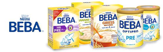 Sortiment: Die Produktvielfalt von Beba - zum Bestellen hier klicken.