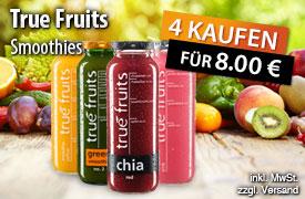 Vorteilskauf: Kaufen Sie 4 True Fruits Snoothies für nur 8 Euro - zum Bestellen hier klicken!