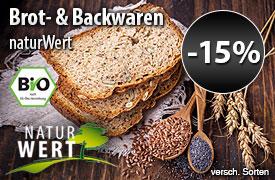 Angebot: 15% auf NaturWert Bio Brot und Backwaren - zum Bestellen hier klicken.