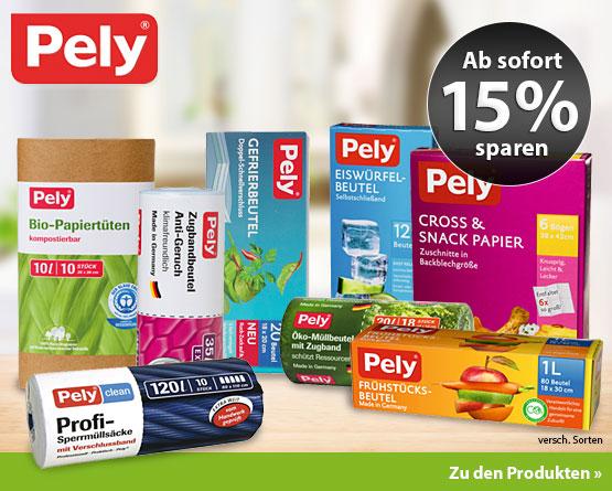 Angebot: 15% Rabatt auf die Marke Pely - zum Bestellen hier klicken.