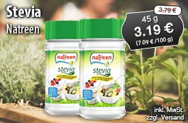 Angebot: Natreen Stevia, , Streichpreis: 3,79 Euro, Angebotspreis: 3,19 Euro, inkl. MwSt, zzgl. Versand - zum Bestellen hier klicken.