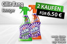 Vorteilskauf: Kaufen Sie 2 Cillit Bang Reiniger und zahlen Sie nur 6,50? - zum Bestellen hier klicken.