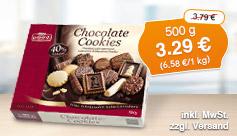 Angebot: Lambertz Chocolate Cookies Schokoladen-Gebäckmischung, 500g, Streichpreis 3,79 Euro, Angebotspreis 3,29 Euro, zzgl. Versand, inkl. Mwst., zzgl. Pfand - zum Bestellen hier klicken.