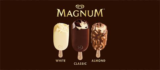 Magnum - white, classic, almond