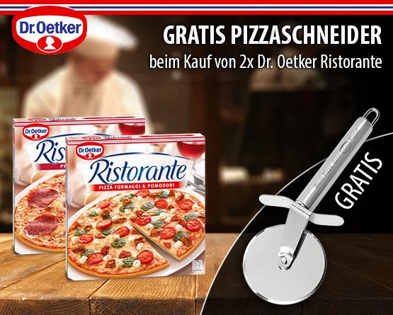 Zugabe: Kaufen Sie 2 Dr. Oetker Ristorante Pizzen und Sie erhalten einen Pizzaschneider gratis - zum Bestellen hier klicken!