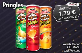 Angebot: Pringles, ab 180g, Streichpreis: 2,15 Euro, Angebotspreis: 1,79 Euro, inkl. MwSt., zzgl. Versand  - zum Bestellen hier klicken