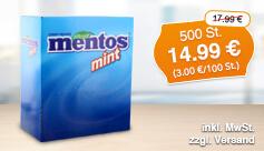 Angebot: Mentos mint, 500 st, Streichpreis: 17,99 Euro, Angebotspreis: 14,99 Euro, inkl. MwSt., zzgl. Versand - zum Bestellen hier klicken.
