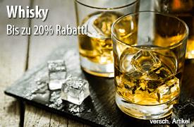 Angebot: Bis zu 20% auf Whisky - zum Bestellen hier klicken