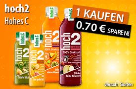 Kaufen Sie eine Flasche Hohes C ² und Sie erhalten 0,70 Euro Sofortrabatt - zum Bestellen hier klicken