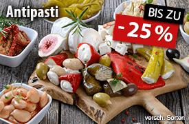 Angebot: Bis zu 25% Rabatt auf Antipasti - zum Bestellen hier klicken!
