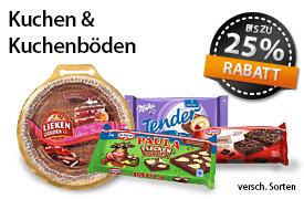 Angebot: Bis zu 25% auf Kuchen und Kuchenböden - zum Bestellen hier klicken!