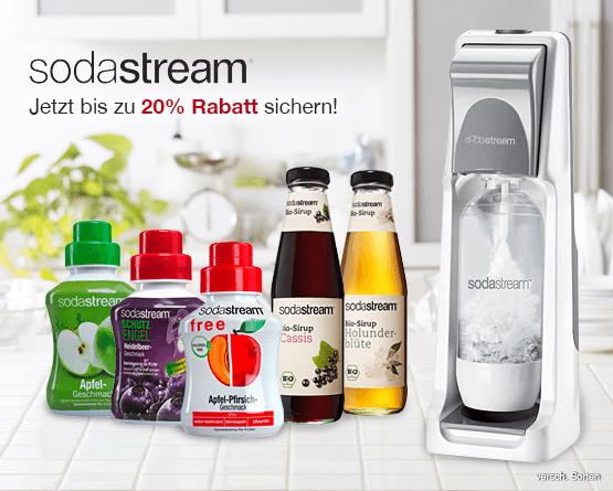 Angebot: bis zu 20 Prozent auf Soda Stream Produkte, inkl. MwSt., zzgl. Versand - zum Bestellen hier klicken!