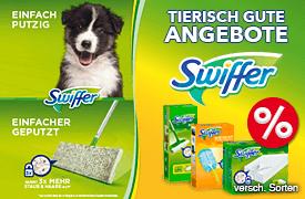 Angebot: Swiffer tierisch gute Angebote inkl. MwSt., zzgl. Versand  - zum Bestellen hier klicken.
