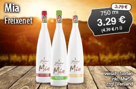 Angebot: Freixenet Mia (750 g), Streichpreis 3,79 Euro, Angebotspreis 3,29 Euro, inkl. MwSt., zzgl. Versand  - zum Bestellen hier klicken.
