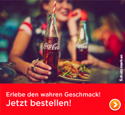 Coke - erlebe den wahren Geschmack