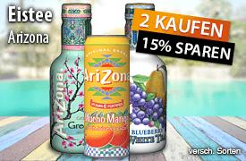 Kaufen Sie 2 Arizona Artikel und Sie sparen 15% - zum Bestellen hier klicken