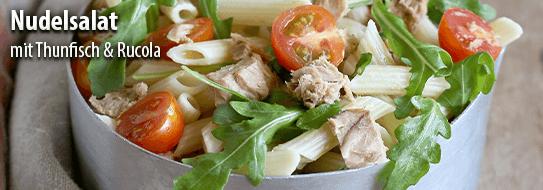 Rezeptempfehlung für Sie: Nudelsalat mit Thunfisch und Rucola - zum Bestellen hier klicken!