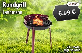 Angebot: Landmann Rundgrill 21274, Streichpreis: 7,99 Euro, Angebotspreis: 6,99 Euro, inkl. MwSt., zzgl. Versand - zum Bestellen hier klicken