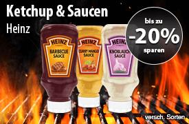 Angebot: Bis zu 20% auf Heinz Ketchup und Saucen - zum Bestellen hier klicken