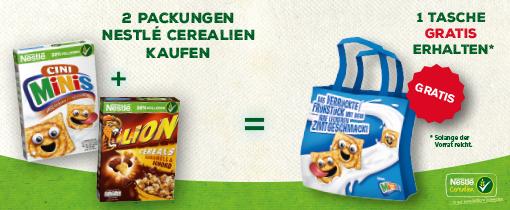 2 Packungen Nestlè Cerealien kaufen, 1 Tasche gratis erhalten