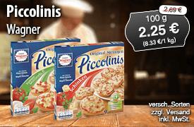 Angebot: Wagner Piccolinis, 270g, Streichpreis: 2,69 Euro, Angebotspreis: 2,25 Euro, inkl. MwSt., zzgl. Versand   - zum Bestellen hier klicken.