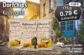 Angebot: Goldmarie Dorfchips, 175g, Streichpreis: 0,99 Euro, Angebotspreis: 0,79 Euro, inkl. MwSt., zzgl. Versand - zum Bestellen hier klicken!
