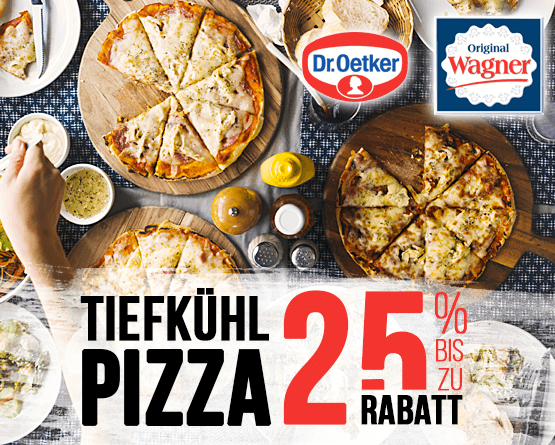 Angebot: Bis zu 25% Rabatt auf Wagner und Dr. Oetker Tiefkühlpizza - zum Bestellen hier klicken!
