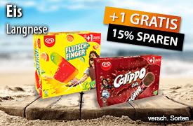 Langnese Eis +1 gratis und 15% Rabatt - zum Bestellen hier klicken