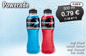 Angebot: Powerade, 500ml, Streichpreis: 0,99 Euro, Angebotspreis: 0,79 Euro, inkl. MwSt., zzgl. Versand - zum Bestellen hier klicken