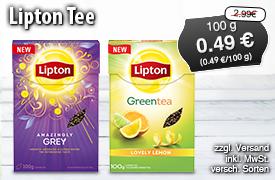 Angebot: Lipton Tee, 100g, Streichpreis: 2,99 Euro, Angebotspreis: 0,49 Euro, inkl. MwSt., zzgl. Versand - zum Bestellen hier klicken