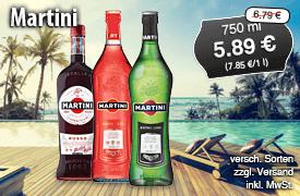 Martini, 750ml, Streichpreis: 6,79 Euro, Angebotspreis: 5,89 Euro, inkl. MwSt., zzgl. Versand - zum Bestellen hier klicken!