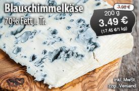 Angebot: Montagnolo Blauschimmelkäse 70% Fett i.Tr., 200g, Streichpreis 3,98 Euro, Angebotspreis 3,49 Euro, zzgl. Versand, inkl. MwSt. - zum Bestellen hier klicken
